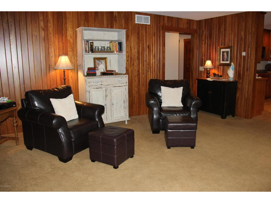 Fireplace in second living room
