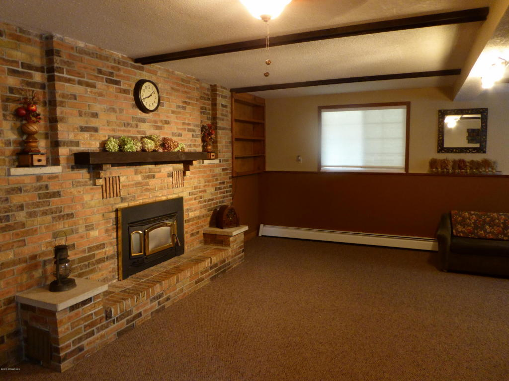 Basement Family Room, Gas Fireplace