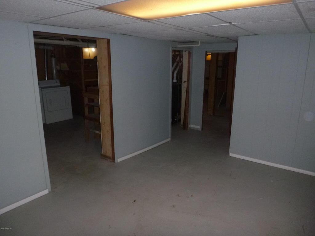 Basement with laundry area