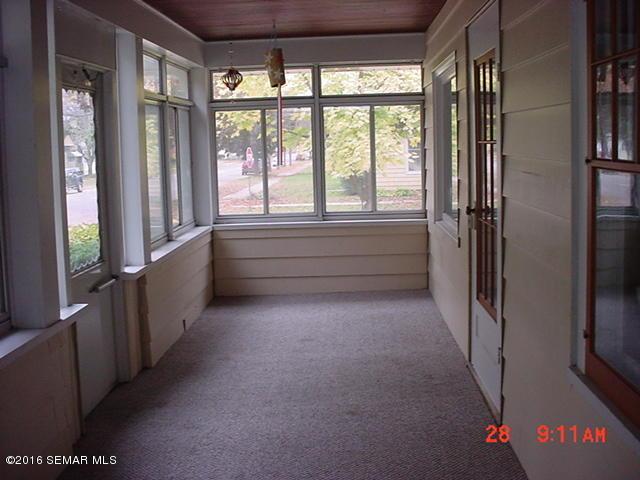 Rear porch off kitchen