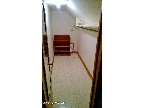 Upstairs bedroom walk-in closet